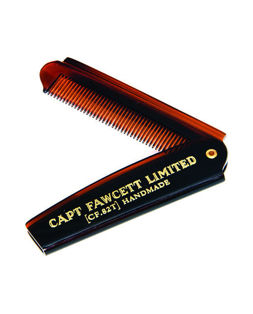 Captain Fawcett's Folding Pocket Beard Comb (Length 193mm),