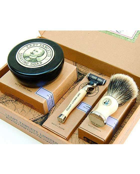 Captain Fawcett's Shaving Box Men's Gift Set