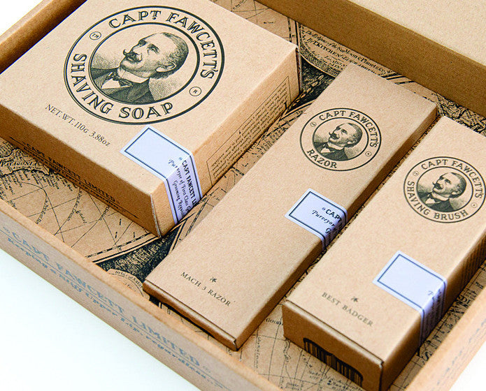 Captian Fawcett's Shaving Box Gift Set,