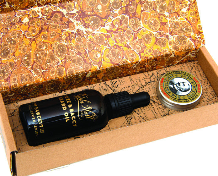 Captain Fawcett's Ricki Hall's Gift Box (Wax & Beard Oil)