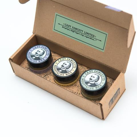 Captain Fawcett's Moustache Wax Cornucopia (3 X 15ml/0.5oz)