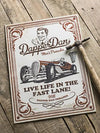 Dapper Dan Metal Wall Sign (Cream)