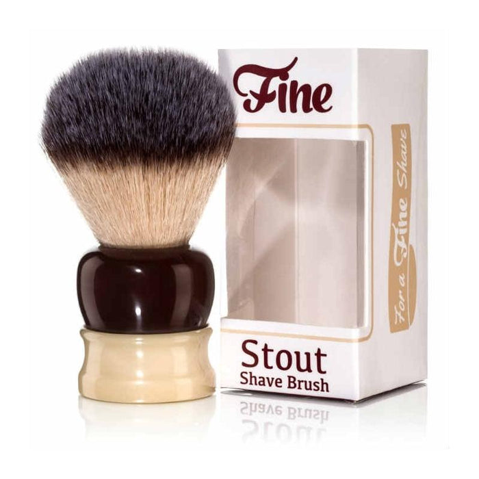 Fine Accoutrements-Stout Brush - Crimson/Ivory