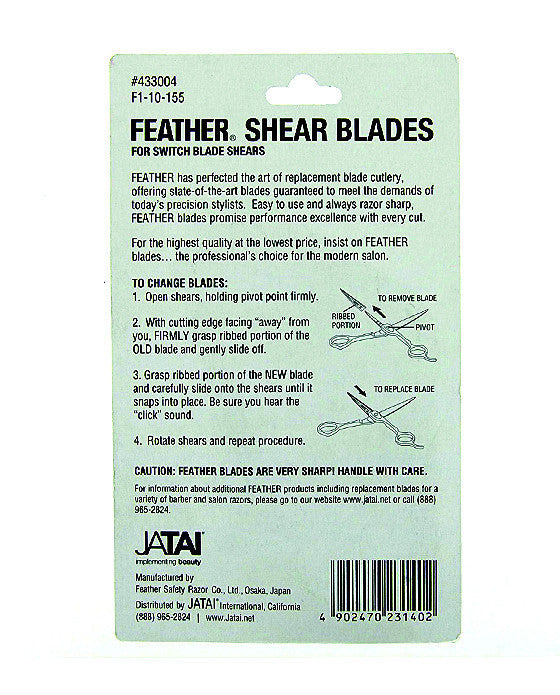 Feather Shear Replacement Blades Model #50/55