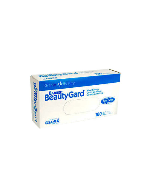 BARBEE BeautyGuard Contour Fit Vinyl Gloves, Small, 100/box