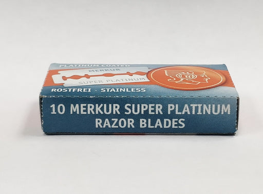 Merkur Super Platinum Double Edge Safety Razor Blades (Single Pack, 10 Blades/Pack)