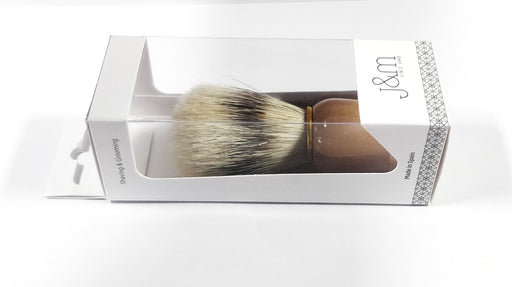 Vie-Long Bristle Shaving Brush, Wood Handle