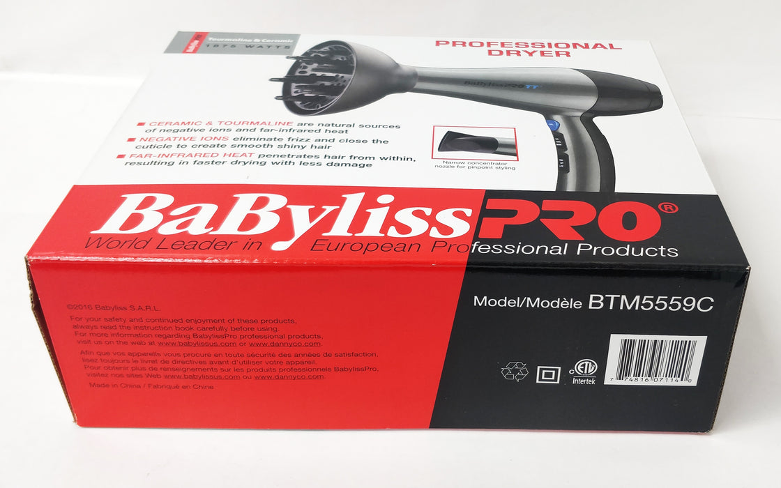 BabylissPro Tourmaline and ceramic hairdryer