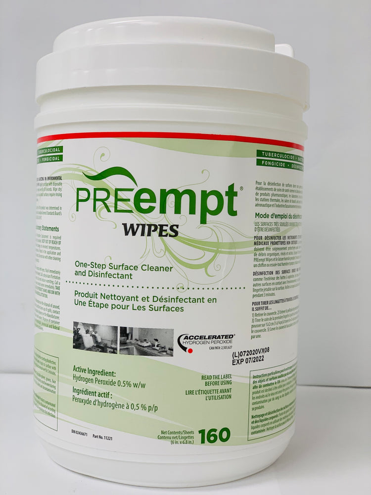 PreEmpt RTU-Wipes 160 sheets