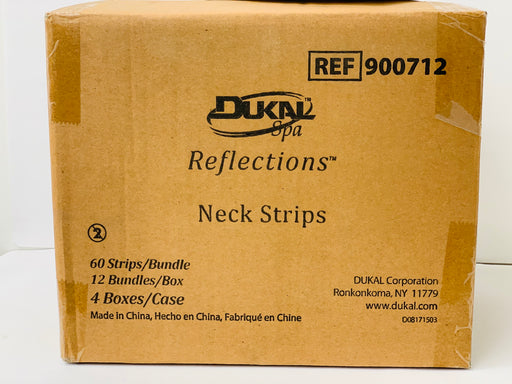 Dukal Neck Strips - 60 Strips/Bundle, 12 Bundles Per Box and 4Boxes in Case