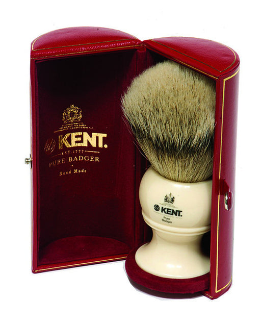 Kent Shaving Brush, Pure Silver Tip Badger, King Size