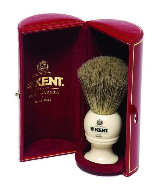 Kent Shaving Brush, Pure Grey Badger, Medium,
