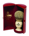 Kent Shaving Brush, Pure Silver Tip Badger, Medium,