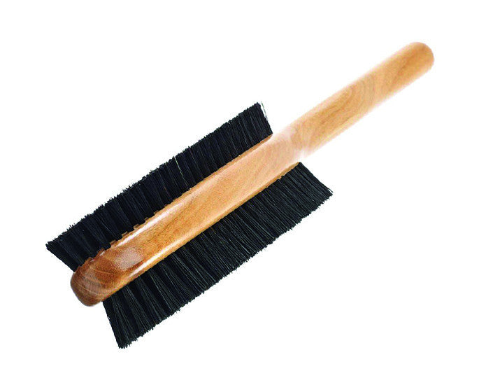 Kent Clothes Brush, Double-sided, Stiff & Soft Bristles, Cherrywood,