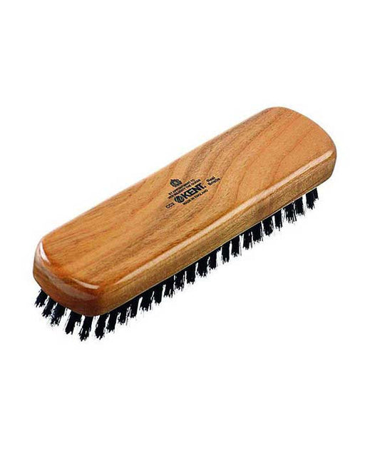 Kent K-CC2 Clothes Brush, Travel Size, Pure Black Bristle, Cherrywood