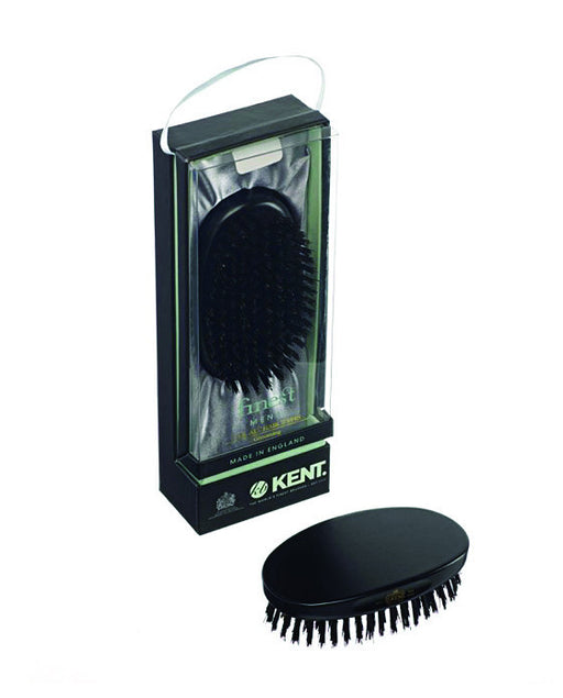 Kent Military Brush, Oval, Black Bristles, Ebonywood,