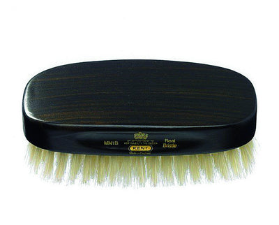 Kent Military Brush, Rectangular, White Bristles, Ebonywood,