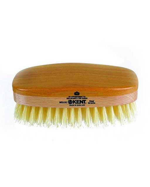Kent Military Brush, Rectangular, White Soft Bristles, Satinwood & Beechwood
