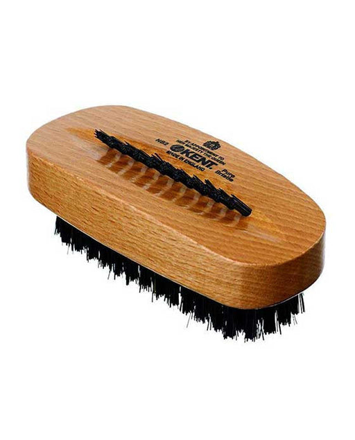 K-NB2 Kent Aqua Nail Brush, Black Bristles With Row Of Bristle On Back, Beechwood