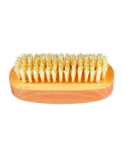 K-NB3 Kent Aqua Nail Brush, White Bristles With Row Of Bristle On Back, Beechwood