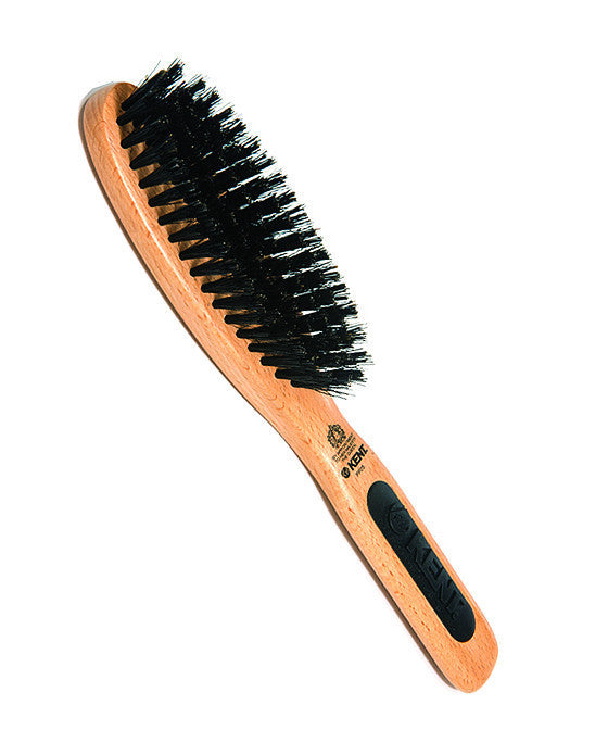 Kent Natural Shine Brush, Oval Head, Pure Bristle,