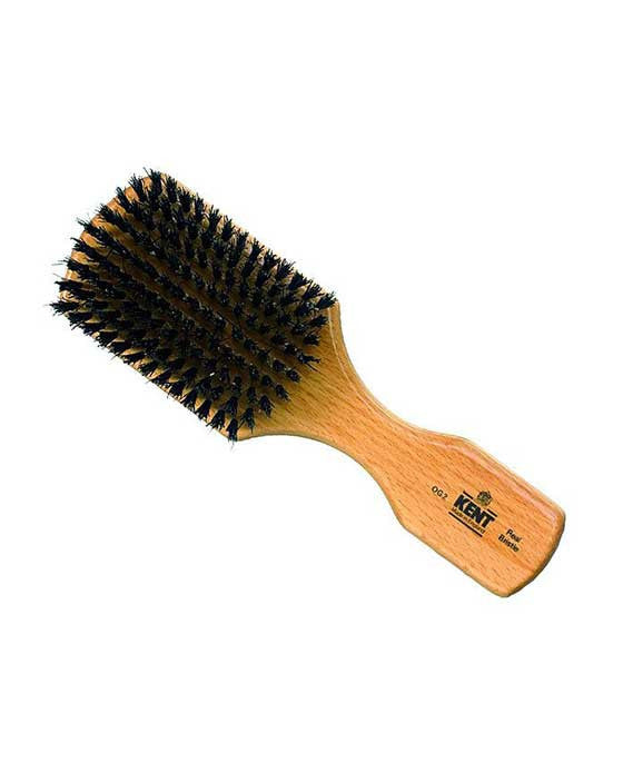 Kent Men's Brush, Rectangular Head, Black Bristles, Beechwood