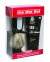 Kent 3pc Shaving Set, Blended Bristle Brush, Shaving Cream, Black Stand, In Box