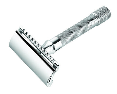 Merkur Double Edge Safety Razor, Straight Cut, Chrome