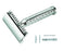 Merkur Double Edge Safety Razor, Straight Cut, Chrome-Plated, Etched Handle,