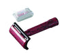 Merkur Double Edge Safety Razor, Short Handle, Red/Black With Box & 10 Blades,
