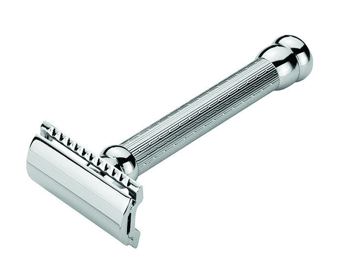 Merkur Double Edge Safety Razor, Long, Engine-Turned Handle