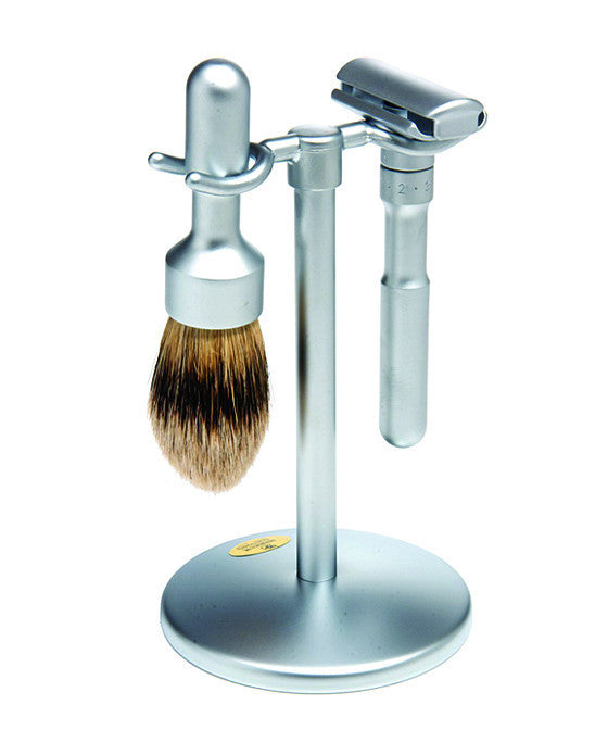 Merkur Futur 3pc Double Edge Safety Razor Shaving Set, Matte,