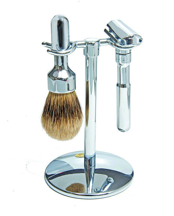 Merkur Futur 3pc Double Edge Safety Razor Shaving Set, Chrome-Plated,
