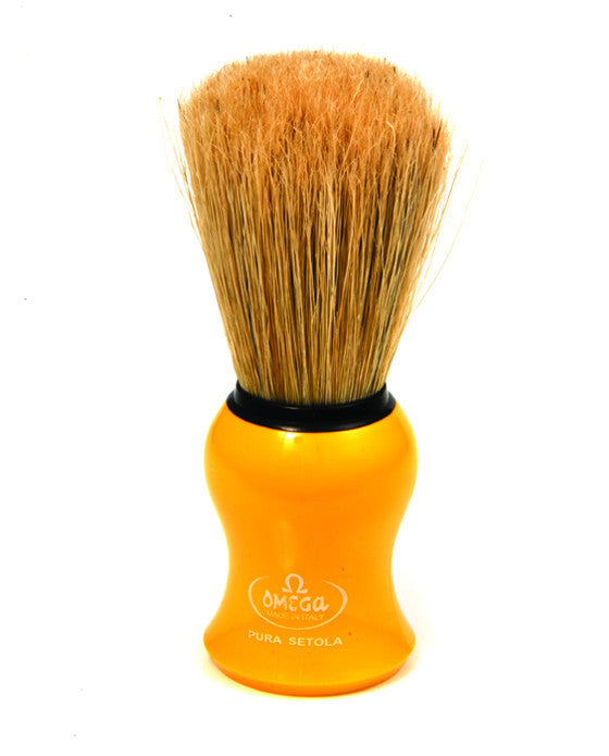 Omega Boar Bristle Shaving Brush, Yellow