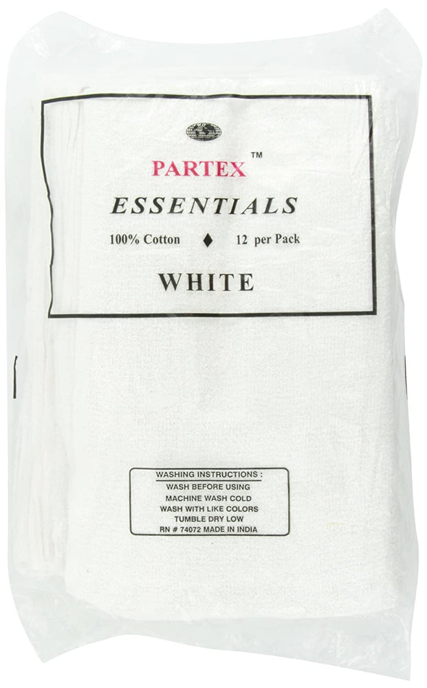 Partex Essential White Towels 12ct