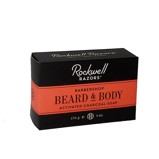 Rockwell Razors Beard & Body Activated Charcoal Soap (Case Pack of 4)