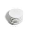 "Cotton Rounds 2.25"", White, unembossed, 80/bag"