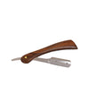 Scalpmaster Deluxe Wood Handle Straight Razor