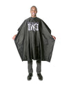 Scalpmaster Waterproof Nylon Barber Cape (Black)