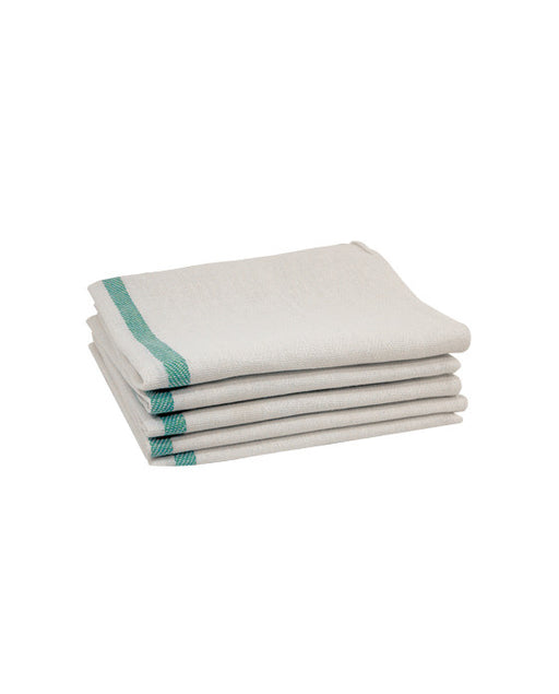 Barber Supplies Co. Green Stripe Cotton Towel (12 PACK)