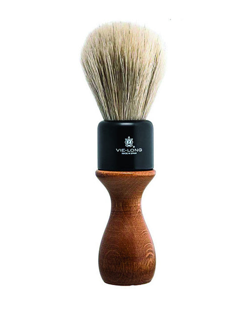 Vie-Long American Style White Horse Hair Shaving Brush