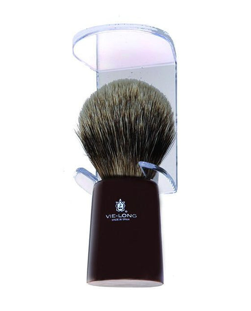 Vie-Long Silver Tip Badger Shaving Brush, Horn Handle