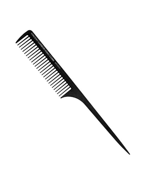 "Vincent Carbon Rat Tail Comb (large extra wide teeth - 10"")"