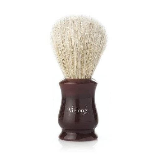 Vie-Long Vintage Tulip Horse Hair Shaving Brush Red Wood Handle