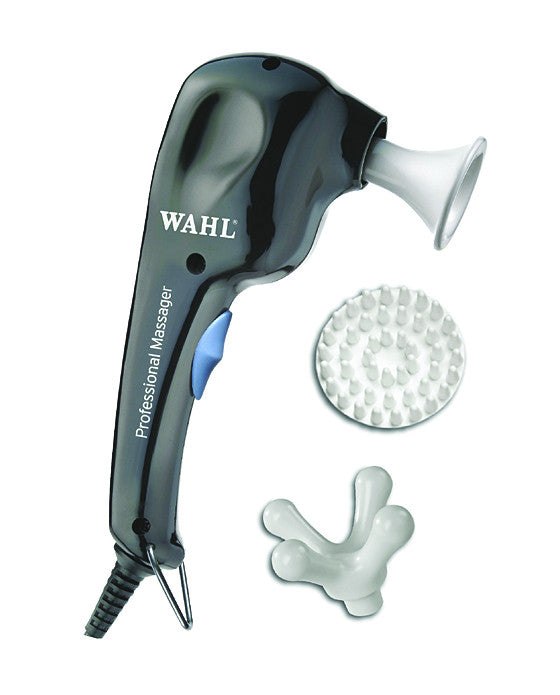 What could be more soothing for your clients? The Wahl Professional Massager does it all. It features include: Multiple Pace Adjustment Options (High and Low Speed) Various Attachments - Scalp, General Applicator, Four Finger Flex Lightweight and Sleek Design Comes with Hanging Hook