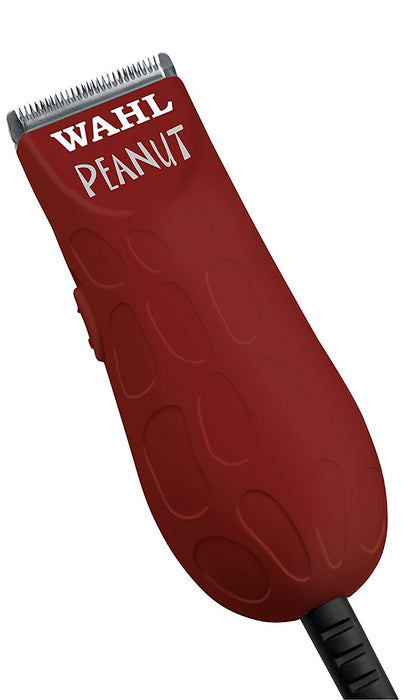 "Wahl Professional Peanut Trimmer #56354, Red, 294g  The WAHL red peanut trimmer is a compact, rotary motor powered tool that is versatile for both clipping and trimming. Use the 4 provided attachment combs to keep your clients' beard at their desired length.  Includes 4 guides - 1/8"" to 1/2"".  Made in USA."
