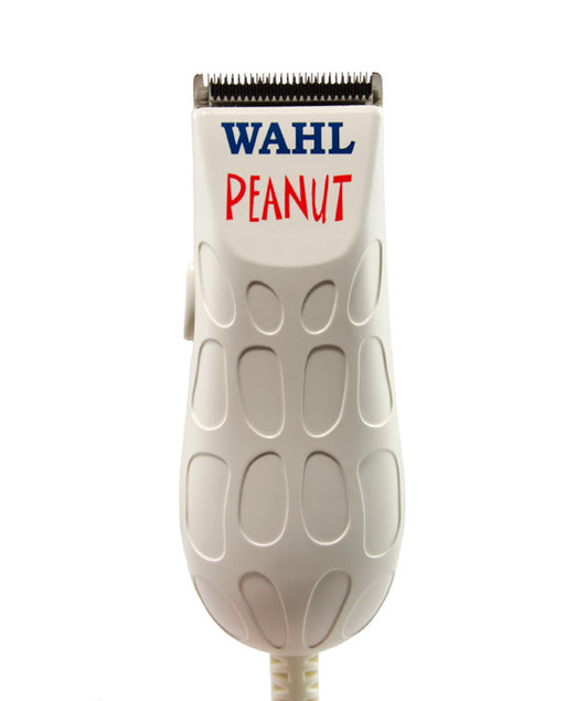 The Wahl White Peanut Trimmer is a premium corded clipper/trimmer. It has a rotary motor and is ergonomic and lightweight (4 ounces, 4 inches). It boasts the power of a full-size clipper. It is designed for cutting work and precision detail finishing.
