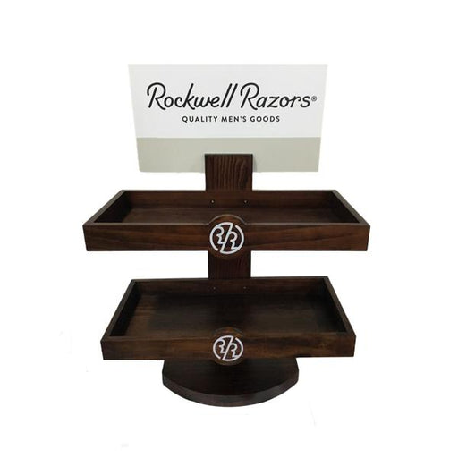 Rockwell Razors Empty Retail Two-Level Wood Display