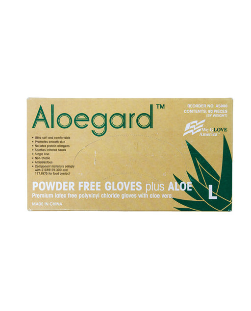 Aloegard Powder-Free Polyvinyl Gloves (Large)