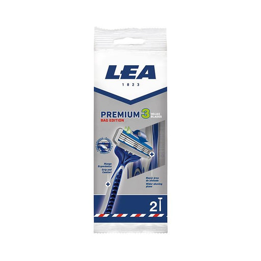 Lea Premium 3 Blade Disposable Razor Bag Edition (2 Units) Pack of 12